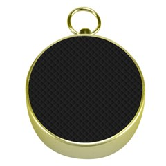 Sleek Black Stitched and Quilted Pattern Gold Compasses
