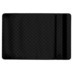 Sleek Black Stitched and Quilted Pattern iPad Air Flip