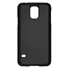 Sleek Black Stitched and Quilted Pattern Samsung Galaxy S5 Case (Black)