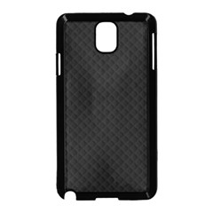 Sleek Black Stitched and Quilted Pattern Samsung Galaxy Note 3 Neo Hardshell Case (Black)