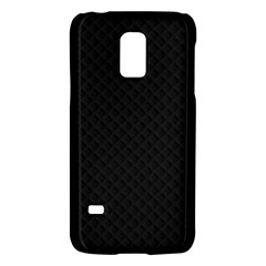 Sleek Black Stitched and Quilted Pattern Galaxy S5 Mini