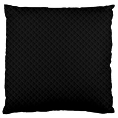 Sleek Black Stitched and Quilted Pattern Standard Flano Cushion Case (One Side)