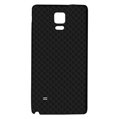 Sleek Black Stitched and Quilted Pattern Galaxy Note 4 Back Case