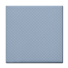 Powder Blue Stitched and Quilted Pattern Tile Coasters