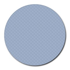 Powder Blue Stitched and Quilted Pattern Round Mousepads