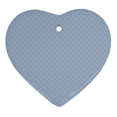 Powder Blue Stitched and Quilted Pattern Ornament (Heart)