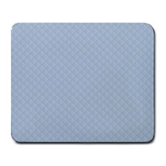 Powder Blue Stitched and Quilted Pattern Large Mousepads