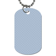 Powder Blue Stitched and Quilted Pattern Dog Tag (Two Sides)