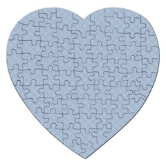 Powder Blue Stitched and Quilted Pattern Jigsaw Puzzle (Heart)