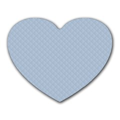 Powder Blue Stitched and Quilted Pattern Heart Mousepads