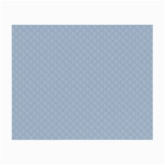 Powder Blue Stitched and Quilted Pattern Small Glasses Cloth (2-Side)