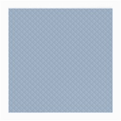 Powder Blue Stitched and Quilted Pattern Medium Glasses Cloth (2-Side)