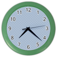 Powder Blue Stitched and Quilted Pattern Color Wall Clocks