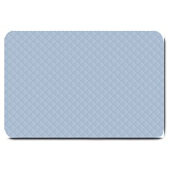 Powder Blue Stitched and Quilted Pattern Large Doormat