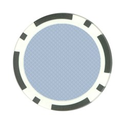 Powder Blue Stitched and Quilted Pattern Poker Chip Card Guard