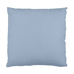 Powder Blue Stitched and Quilted Pattern Standard Cushion Case (Two Sides)