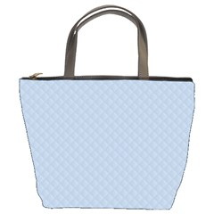 Powder Blue Stitched and Quilted Pattern Bucket Bags