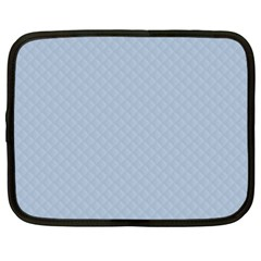 Powder Blue Stitched and Quilted Pattern Netbook Case (XXL)