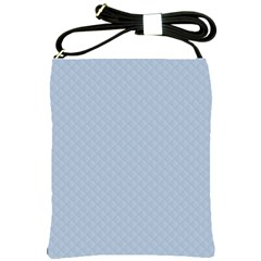 Powder Blue Stitched and Quilted Pattern Shoulder Sling Bags