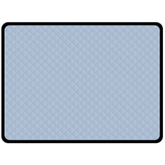 Powder Blue Stitched and Quilted Pattern Fleece Blanket (Large)