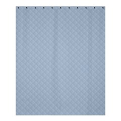 Powder Blue Stitched and Quilted Pattern Shower Curtain 60  x 72  (Medium)