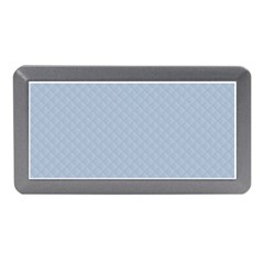 Powder Blue Stitched and Quilted Pattern Memory Card Reader (Mini)