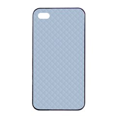Powder Blue Stitched and Quilted Pattern Apple iPhone 4/4s Seamless Case (Black)