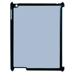 Powder Blue Stitched And Quilted Pattern Apple Ipad 2 Case (black)