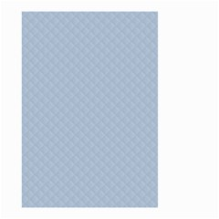 Powder Blue Stitched and Quilted Pattern Small Garden Flag (Two Sides)