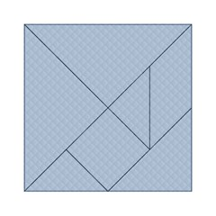 Powder Blue Stitched and Quilted Pattern Acrylic Tangram Puzzle (6  x 6 )
