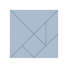 Powder Blue Stitched and Quilted Pattern Acrylic Tangram Puzzle (4  x 4 )