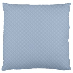 Powder Blue Stitched and Quilted Pattern Large Cushion Case (Two Sides)