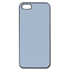 Powder Blue Stitched and Quilted Pattern Apple iPhone 5 Seamless Case (Black)