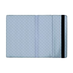 Powder Blue Stitched and Quilted Pattern Apple iPad Mini Flip Case