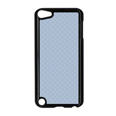 Powder Blue Stitched and Quilted Pattern Apple iPod Touch 5 Case (Black)