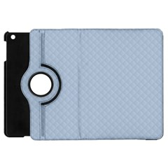 Powder Blue Stitched And Quilted Pattern Apple Ipad Mini Flip 360 Case