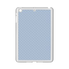 Powder Blue Stitched and Quilted Pattern iPad Mini 2 Enamel Coated Cases