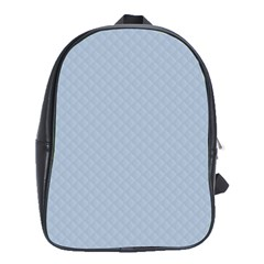 Powder Blue Stitched and Quilted Pattern School Bags (XL)