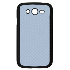 Powder Blue Stitched and Quilted Pattern Samsung Galaxy Grand DUOS I9082 Case (Black)