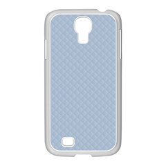 Powder Blue Stitched and Quilted Pattern Samsung GALAXY S4 I9500/ I9505 Case (White)