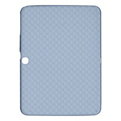 Powder Blue Stitched and Quilted Pattern Samsung Galaxy Tab 3 (10.1 ) P5200 Hardshell Case
