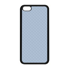 Powder Blue Stitched and Quilted Pattern Apple iPhone 5C Seamless Case (Black)