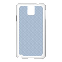 Powder Blue Stitched and Quilted Pattern Samsung Galaxy Note 3 N9005 Case (White)