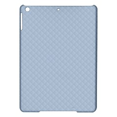 Powder Blue Stitched and Quilted Pattern iPad Air Hardshell Cases