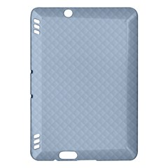 Powder Blue Stitched and Quilted Pattern Kindle Fire HDX Hardshell Case