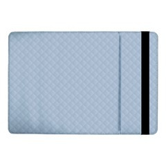 Powder Blue Stitched and Quilted Pattern Samsung Galaxy Tab Pro 10.1  Flip Case