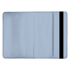 Powder Blue Stitched and Quilted Pattern Samsung Galaxy Tab Pro 12.2  Flip Case