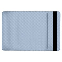 Powder Blue Stitched and Quilted Pattern iPad Air Flip