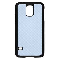 Powder Blue Stitched and Quilted Pattern Samsung Galaxy S5 Case (Black)