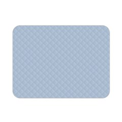 Powder Blue Stitched and Quilted Pattern Double Sided Flano Blanket (Mini)